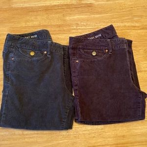 TWO pairs of GAP sexy boot 31/12 corduroys